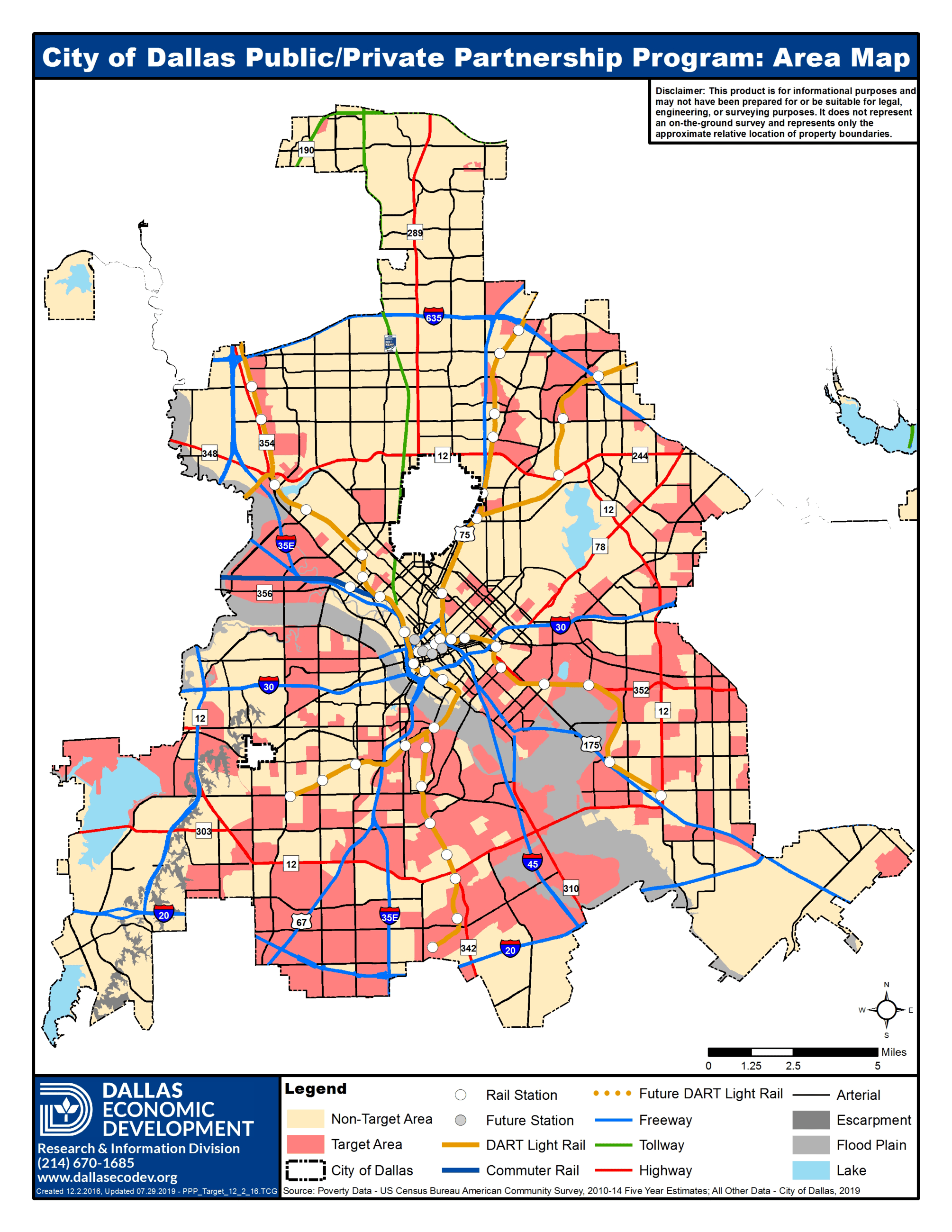 City of Dallas Public / Private Partnership Program Target Areas Map_Updated