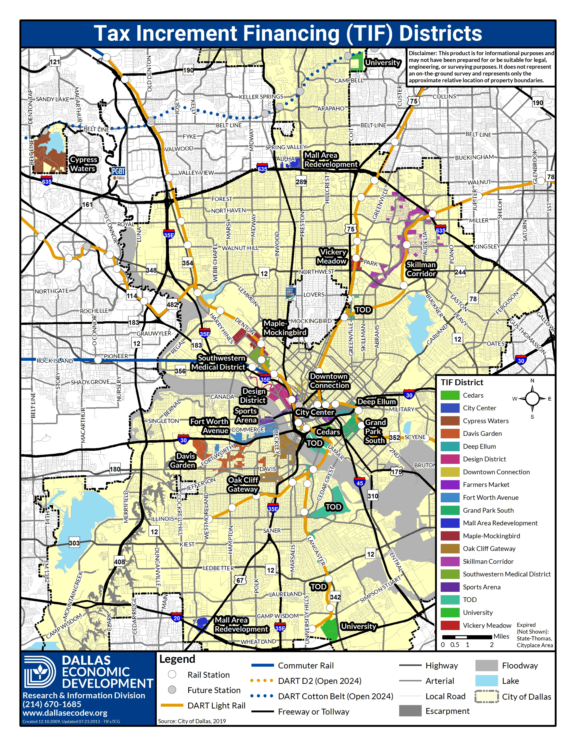 City of Dallas Tax Increment Financing Districts_Updated