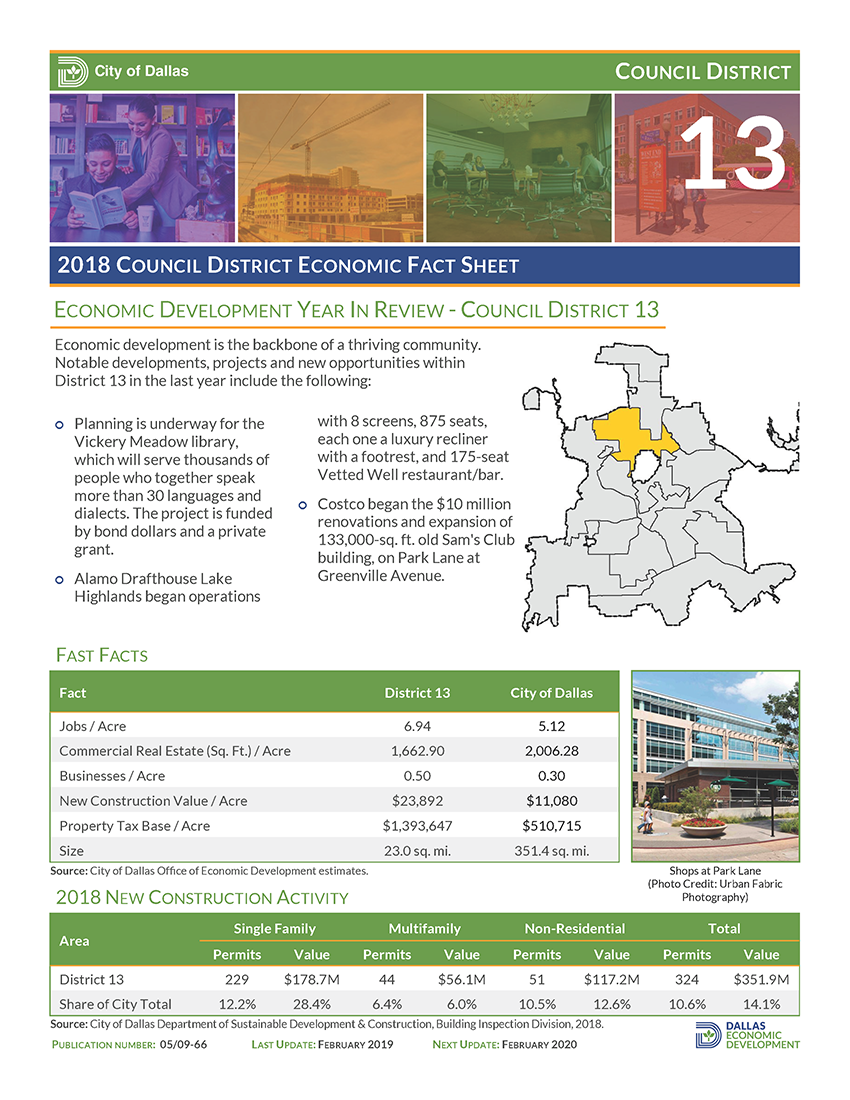 Council District Fact Sheet 13_2018 Image