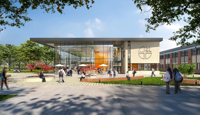 Rendering of the Cristo Rey Dallas Innovation Center